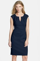 Adrianna Papell Women's Side Pleat Sheath Dress