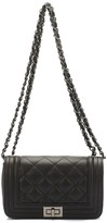 Lisa Minardi Quilted Nappa Leather Flap Shoulder Bag