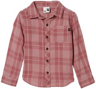 Cotton On Rugged Plaid Long Sleeve Shirt