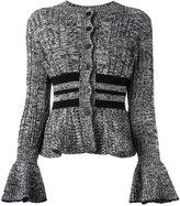 Alexander McQueen peplum knitted cardigan - women - Wool/Silk/Polyamide/Spandex/Elastane - XS