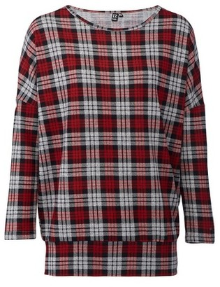 Dorothy Perkins Womens Izabel London Red Checked Print Top, Red