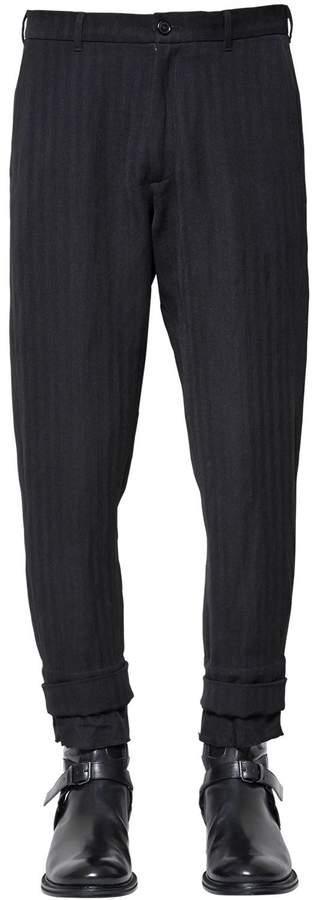Ann Demeulemeester Wool Blend Pants W/ Viscose Hem