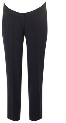 Dorothy Perkins Womens **Maternity Navy Under Bump Trousers