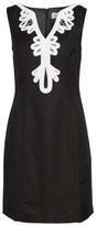 Eliza J Women's Embroidered Neck Sheath Dress