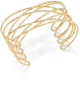 INC International Concepts Gold-Tone Crisscross Cuff Bracelet, Created for Macy's