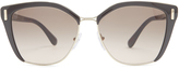 Prada Cat-eye acetate and metal sunglasses