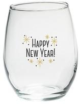 Kate Aspen Set of 4) Happy New Year! 15 oz. Stemless Wine Glass