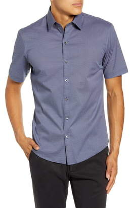 Zachary Prell Suarez Regular Fit Short-Sleeve Button-Up Sport Shirt