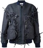Facetasm tied detail bomber jacket - women - Cotton/Polyurethane/Tencel - 1