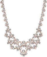 Charter Club Rose Gold-Tone Crystal and Imitation Pink Pearl Statement Necklace, Only at Macy's