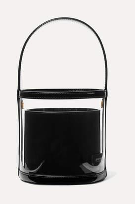STAUD Bissett Pvc And Patent-leather Bucket Bag - Black