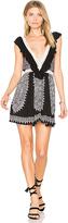 Raga Ventura Ruffle Short Dress in Black. - size M (also in )