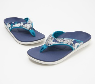 Spenco Orthotic Thong Sandals - Yumi Tropical