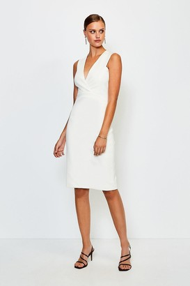 Karen Millen Italian Jersey Plunge Neck Pencil Dress