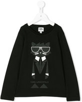 Karl Lagerfeld logo cat print top