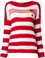 Ermanno Scervino striped star patch sweater