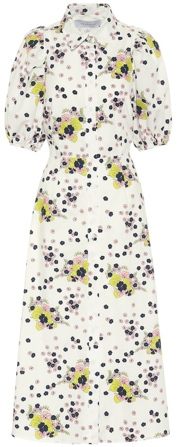 Les Rêveries Exclusive to Mytheresa Floral cotton poplin shirt dress