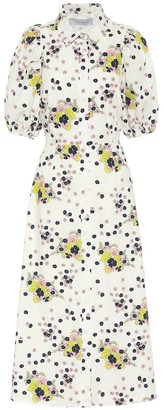 Les Rêveries Exclusive to Mytheresa Floral cotton poplin shirt dress
