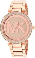 Michael Kors MK5865 Women's Parker Rose Gold Watch w/ Crystal Accents