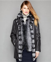 The Fur Vault Shawl-Collar Jacket & Removable Rabbit Fur Vest