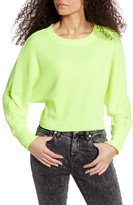 La La Land Creative Co Neon Dolman Sleeve Ribbed Top