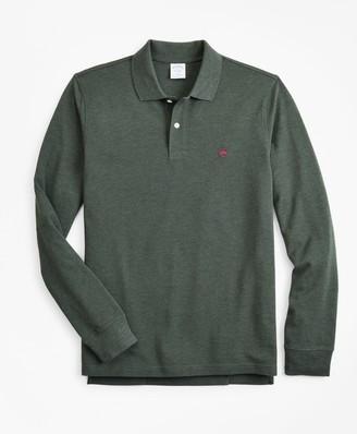 Brooks Brothers Slim Fit Supima Long-Sleeve Performance Polo Shirt