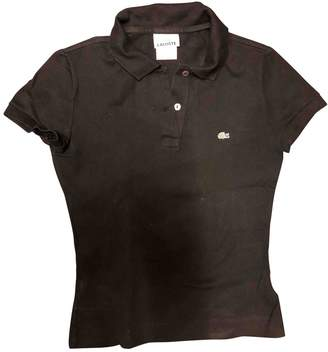 Lacoste Black Cotton Top for Women