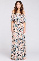 MUMU Hacienda Maxi Dress ~ Steel Magnolia