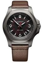 Victorinox Inox Titanium & Leather Watch