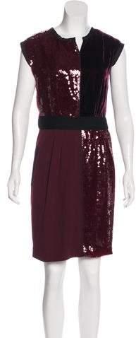 Marc Jacobs Sequin & Velvet Accented Cocktail Dress
