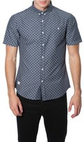 7 Diamonds Men's 'The Stars' Trim Fit Short Sleeve Print Woven Shirt