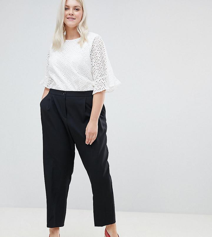 ASOS DESIGN Curve elasticated clean tapered pants