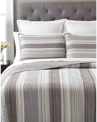 Martha Stewart Garrison Stripe Neutral Quilt