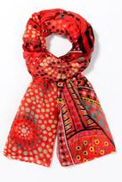 Desigual Orange Graphic Scarf