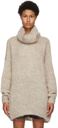Isabel Marant Beige Mohair and Wool Eva Turtleneck