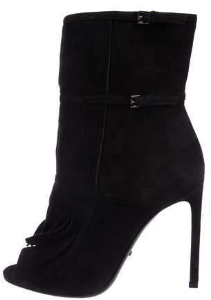 42e07ec17b71 Gucci Fringe Ankle Boots - ShopStyle