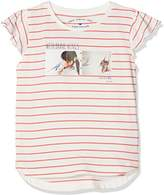 Tom Tailor Kids Girl's Striped Tee with Photo Print T-Shirt,(Manufacturer Size: /122)