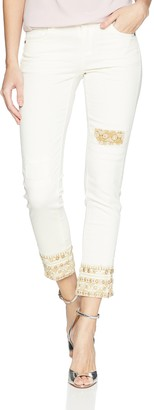 Desigual Women's Respect Embroidered Detail Denim Trousers