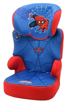 Spiderman Nania Befix Group 2/3 Highback Booster Infant Car Seat, Disney