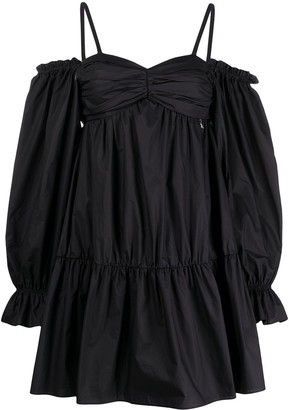 Patrizia Pepe Puff Sleeves Ruffled Dress