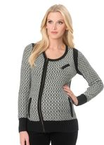 A Pea in the Pod Zip Front Wool Maternity Jacket