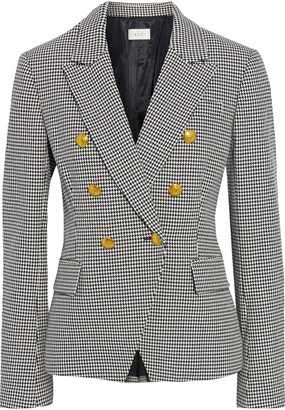 A.L.C. Alton Double-breasted Houndstooth Cotton-blend Blazer