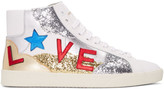 Saint Laurent White love Sl-06m Court Classic High-top Sneakers