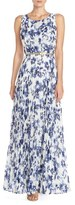 Eliza J Women's Floral Pleat Chiffon Maxi Dress