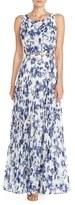 Eliza J Women's Floral Pleat Chiffon Maxi Dress