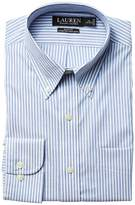 Lauren Ralph Lauren Slim Fit Non Iron Pinpoint Stretch Stripe Button Down Collar Dress Shirt Men's Long Sleeve Button Up