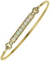 Jemma Wynne Opal and Diamond Closed Bar Bangle Bracelet