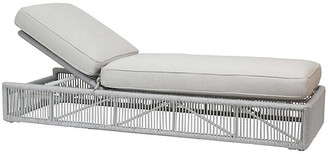 One Kings Lane Dola Outdoor Adjustable Chaise - Light Gray