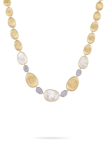 Marco Bicego Lunaria Mother-of-Pearl Collar Necklace with Diamonds