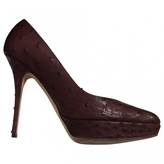 Christian Dior Brown Exotic leathers Heels